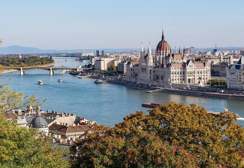 Ansicht auf Budapest