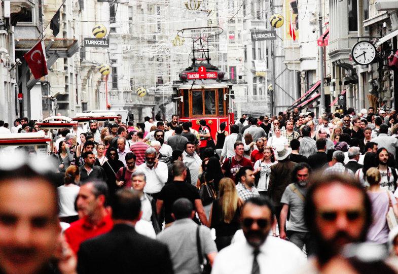 Straßenszene in Istanbul