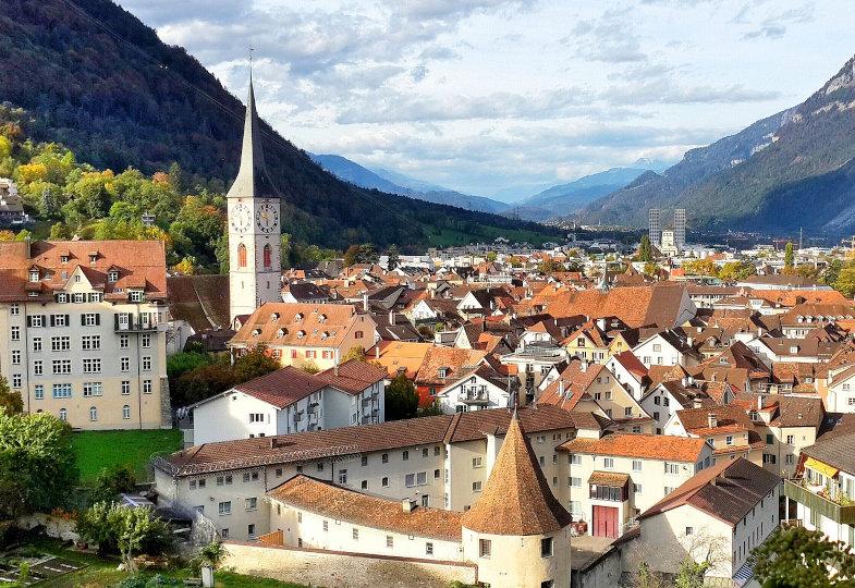 Die Schweizer Bischofsstadt Chur