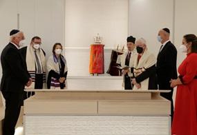 Vertreter eröffnen das Europäische Zentrum für Jüdische Gelehrsamkeit