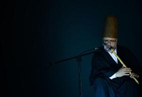 Ein Sufi mit Flöte