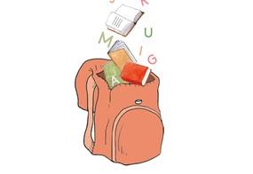 Ein Rucksack voller Buchstaben