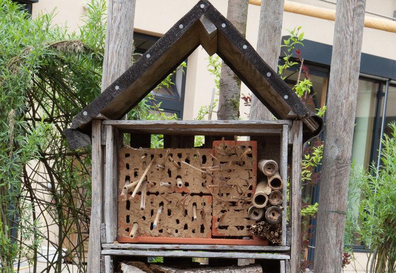 Ein Zuhause für Wildbienen & Co.. Bildimpuls aus der Kita