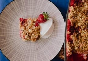 Erdbeer-Streusel-Crumble