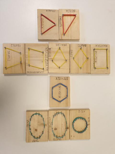 Geometrie am Nagelbrett