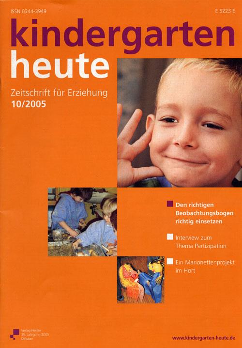 kindergarten heute - Das Fachmagazin für Frühpädagogik 10_2005, 35. Jahrgang
