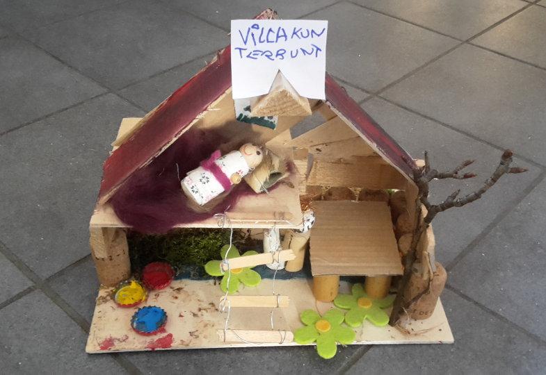 Kreative Idee mit Obstkisten: Villa Kinterbunt
