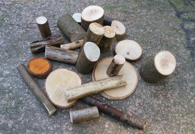 Naturbauklötze - Pädagogisches Material selbst hergestellt