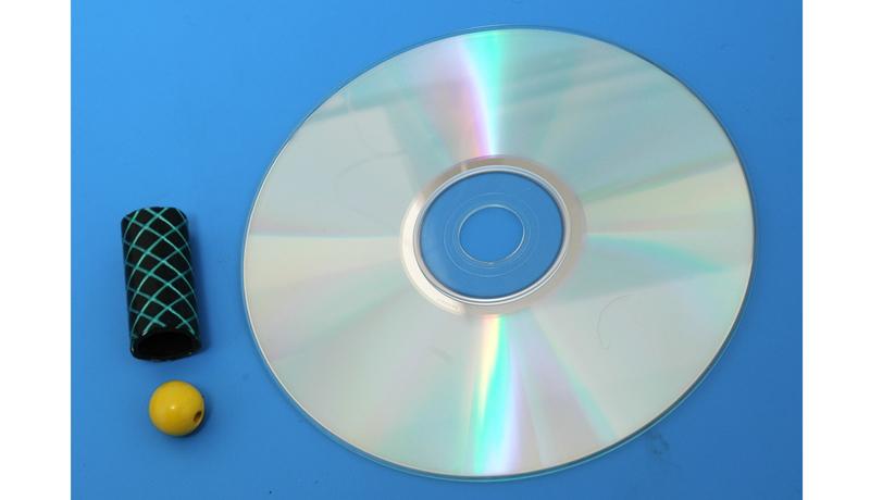 Basteln mit alten CDs: Superkreisel