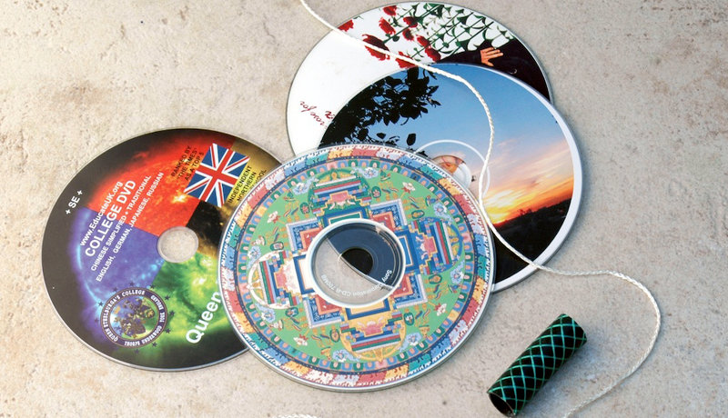 Basteln mit Recyclingmaterial: CD-Jo-Jo