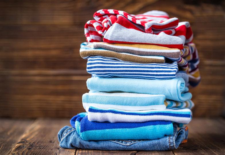 Es gibt keine saubere Kleidung