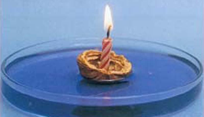 Experiment mit Unterdruck: Kerzenschiffchen