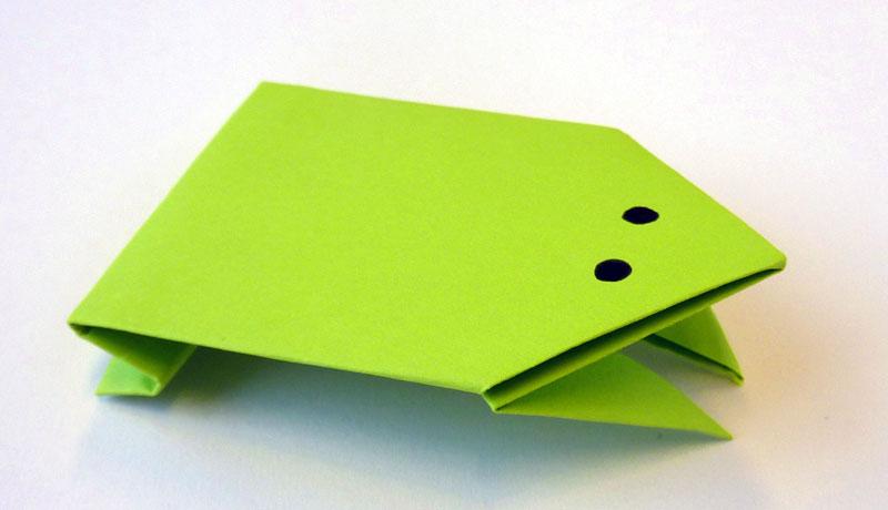 Faltanleitung: Wetterfrosch aus Papier