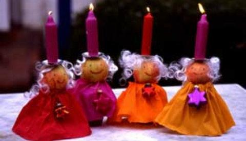 Festliche Weihnachtsdeko: Kerzenpüppchen