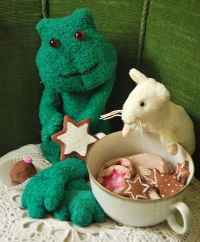 Für die Puppenküche: Weihnachtsplätzchen aus Salzteig