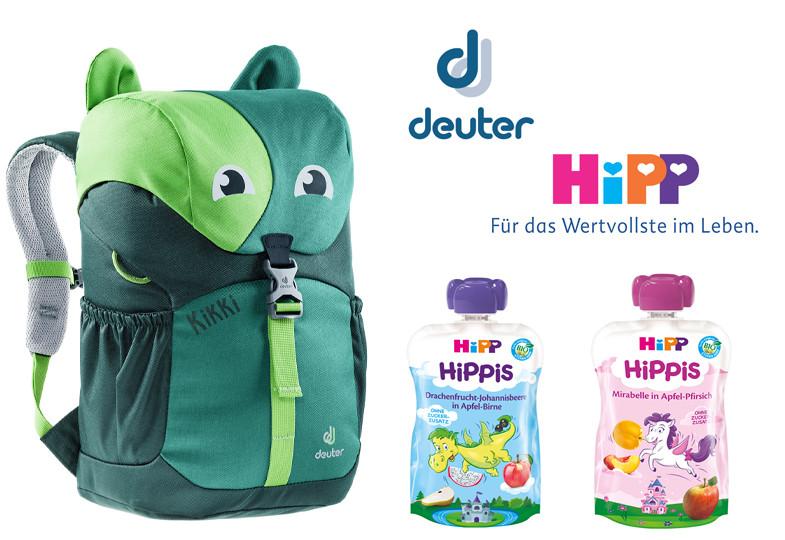 Gewinnspiel: Wir verlosen 2x HiPP Früchtespaß und Rucksäcke von Deuter