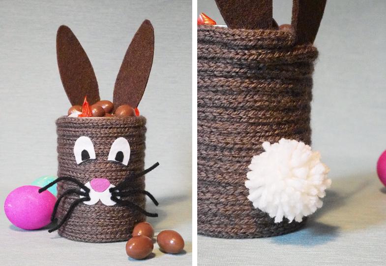 Dieser niedliche Hase ist eine schöne Geschenkidee zu Ostern