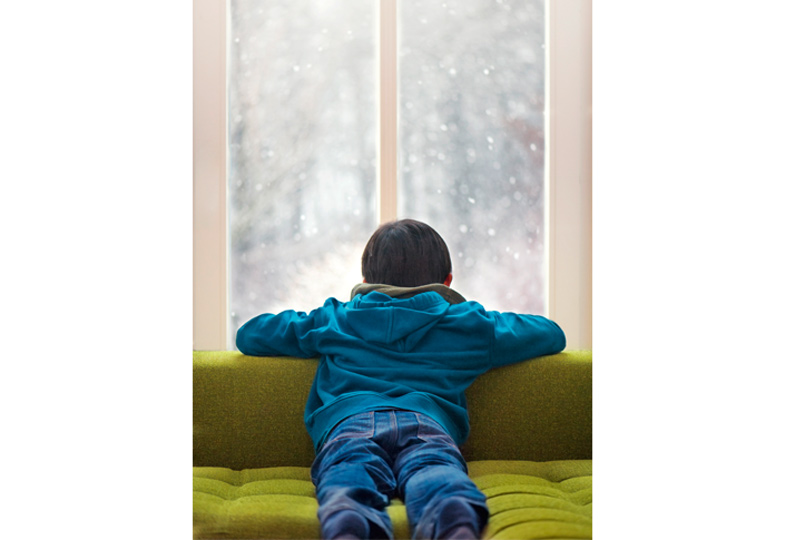 Heute schneit's im Wohnzimmer