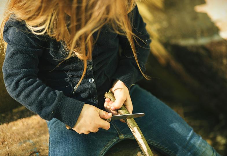 Keine Angst vor scharfen Klingen. Mit einem guten Messer schnitzt es sich leichter