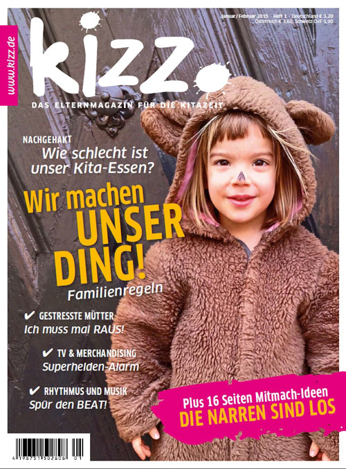 kizz. Das Elternmagazin für die Kitazeit Januar/Februar 2015, Heft 1