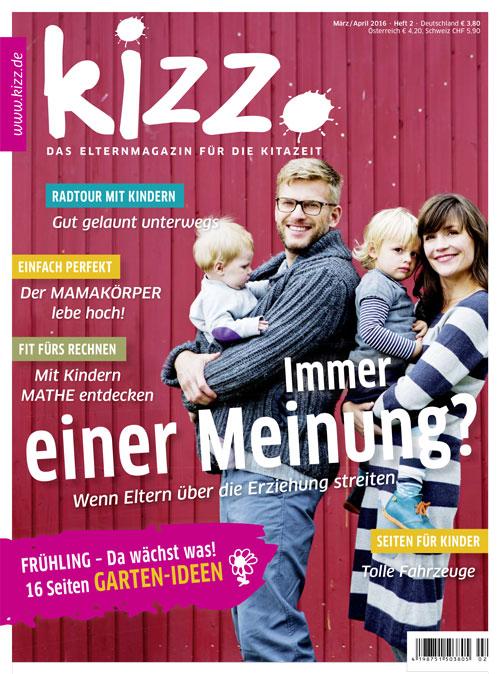 kizz. Das Elternmagazin für die Kitazeit März/April 2016, Heft 2