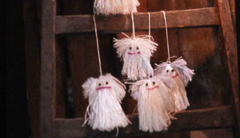 Kleine Gespenster aus Wolle: Gruselgeister