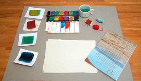 kunst-mit-farbe-und-faden-bunt-gefaedelt