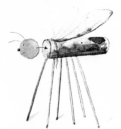 Libelle aus Bastelresten: Glitzernde Teichschönheit