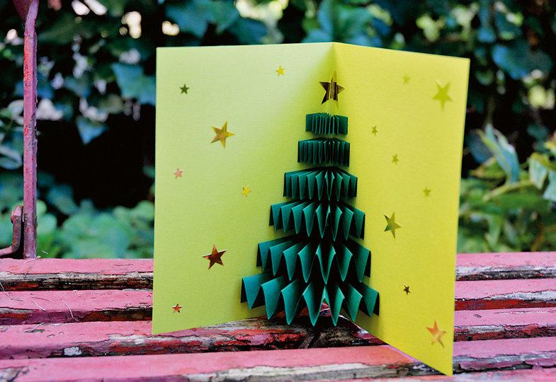 Für die Weihnachtspost: Karten mit Tortenspitze