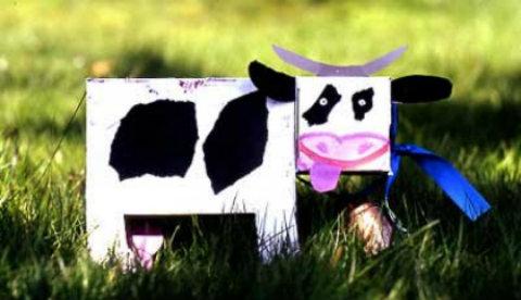 Spardose selbst gemacht: Leni, die Spar-Kuh