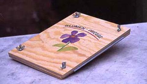 Werkeln mit Holz: Blumenpresse für Einsteiger