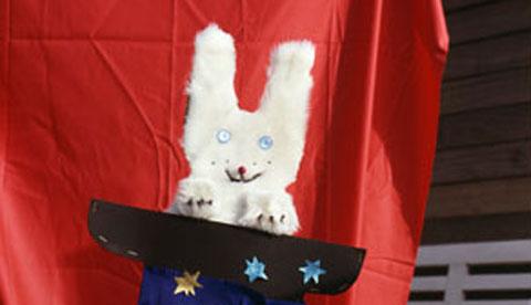 Zubehör für Zauberer: Kaninchen im Zylinder