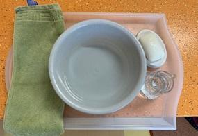 Fegen und Händewaschen