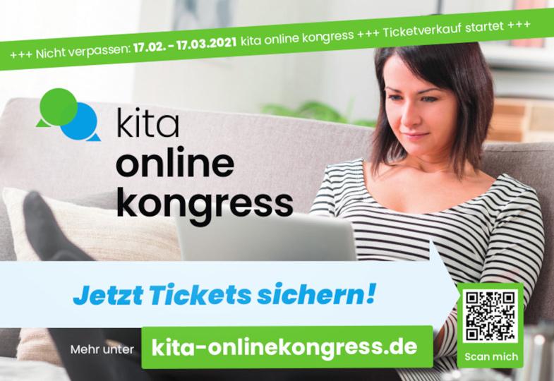 Wir verlosen fünf Freikarten für den Kita-Onlinekongress 2021!