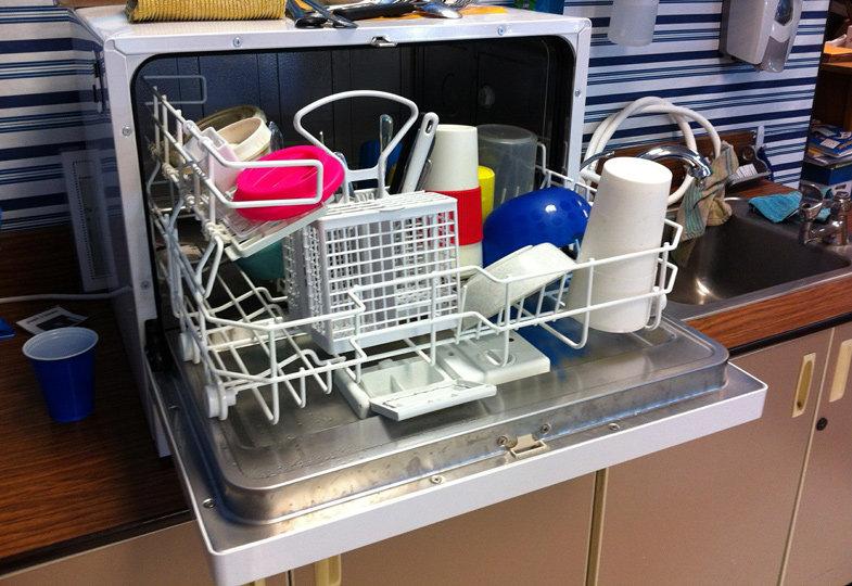 In einem Abwasch