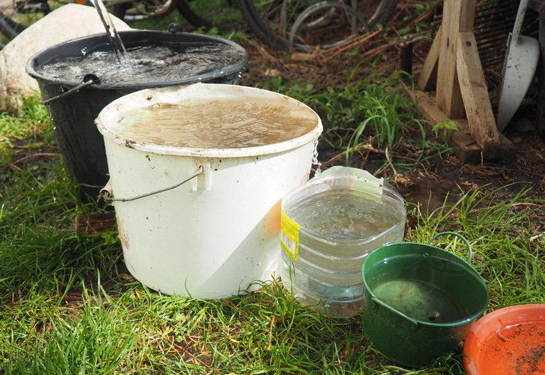 Wasserspaß im Kita-Garten