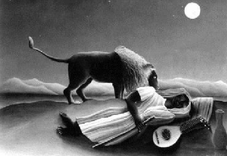Henri Rousseau, Die schlafende Zigeunerin (1897)