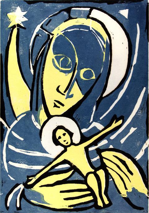 Erhard Klonk, Maria mit Jesuskind und Stern (1960)