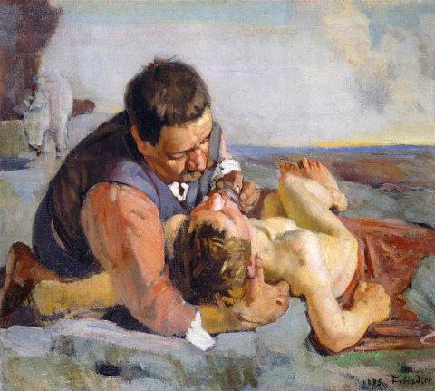 Ferdinand Hodler, Der barmherzige Samariter (um 1883)