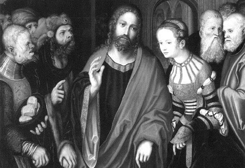 Lucas Cranach der Ältere, Christus und die Ehebrecherin (1520)