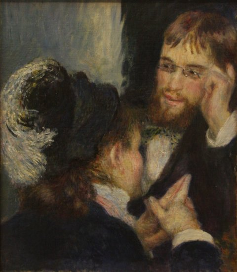 August Renoir (1841–1919), Conversation, 1879, Nationalmuseum, Stockholm.