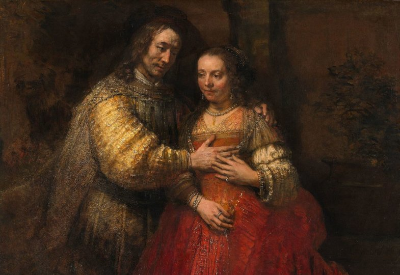 Rembrandt Harmenszoon van Rijn (1606–1669), Die Judenbraut, 1667, Reichmuseum Amsterdam.