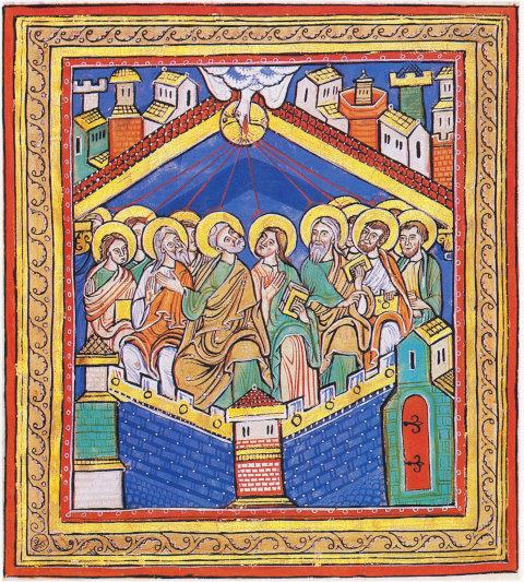 Evangelistar St. Peter, um 1200, Badische Landesbibliothek Karlsruhe