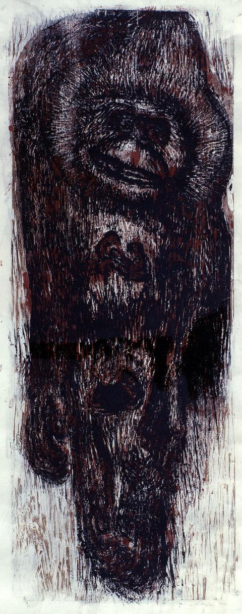 Gustav Kluge, Tätowierte Affenhaut