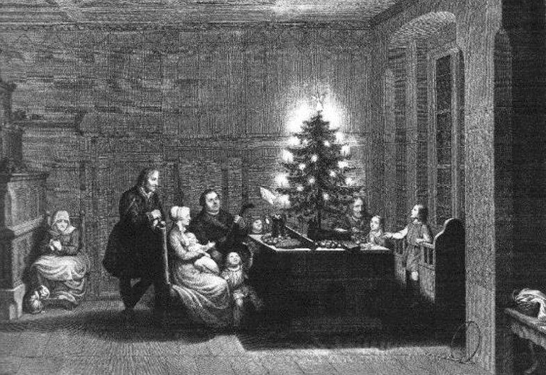Carl August Schwendegeburth, Luther mit seiner Familie am Christabend 1536