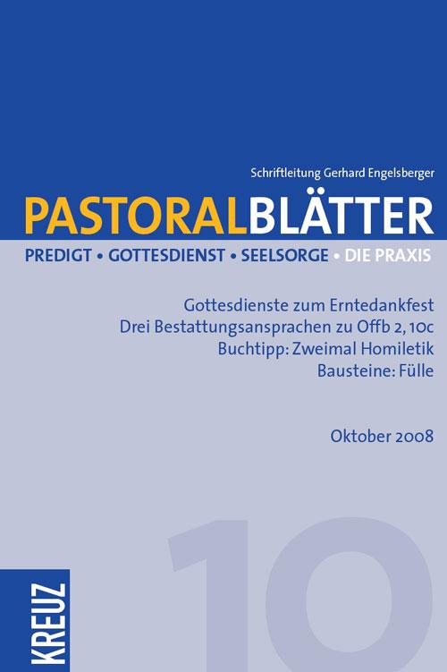 Pastoralblätter 10/2008