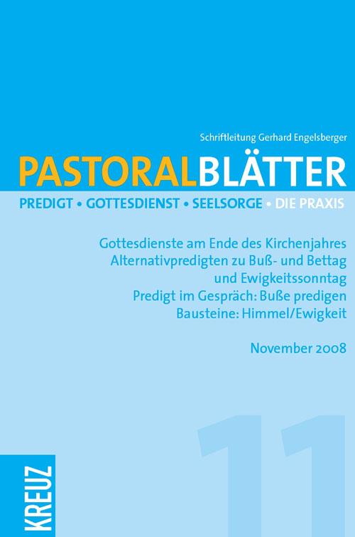 Pastoralblätter 11/2008