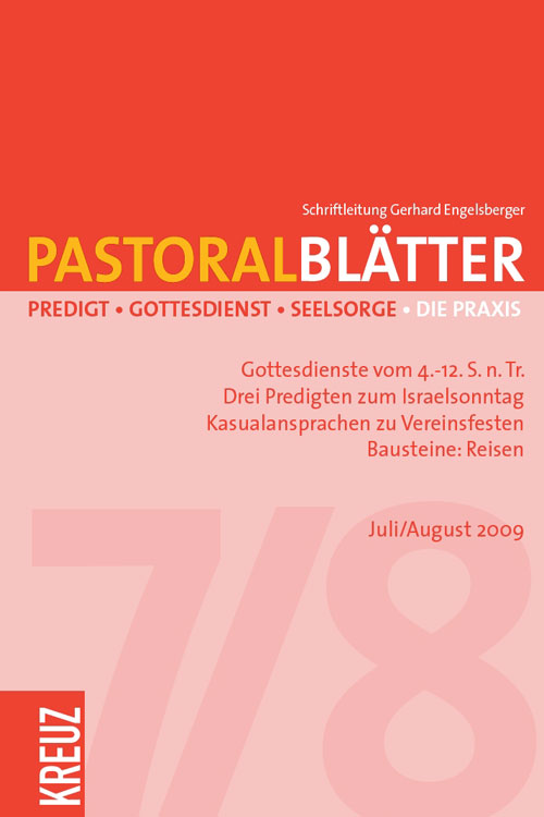 Pastoralblätter 7-8/2009