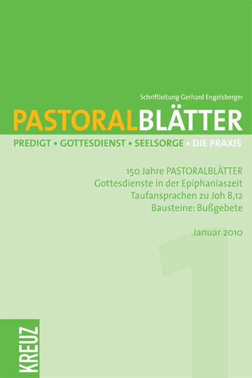 Pastoralblätter 1/2010