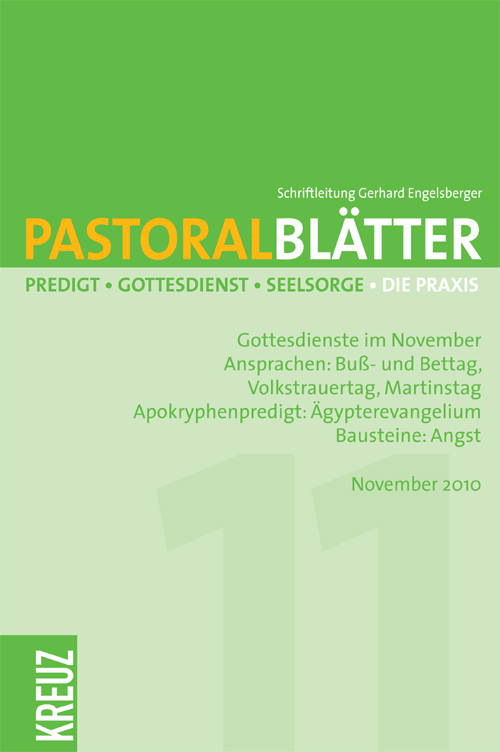 Pastoralblätter 5/2010